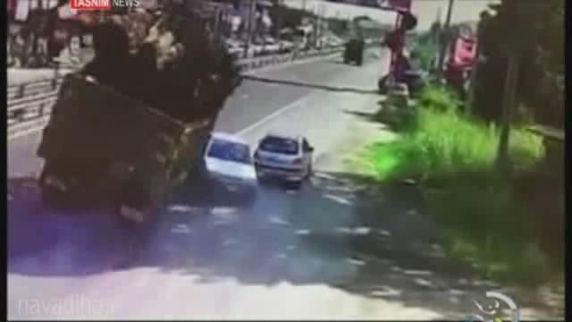 کلیپ صحنه تصادف سرمربی کاراته تیم ملی بانوان